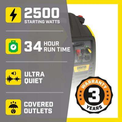 2500-Watt Ultralight Portable Dual Fuel Recoil Start Inverter Generator