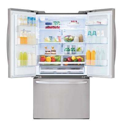 22 cu. ft. French Door Smart Refrigerator with Wi-Fi Enabled in Stainless Steel, Counter Depth