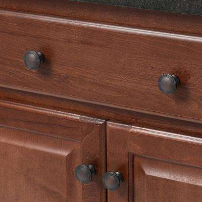 1-3/8 in. Oil Rubbed Bronze Ribbon and Reed Cabinet Knob (25-Pack)