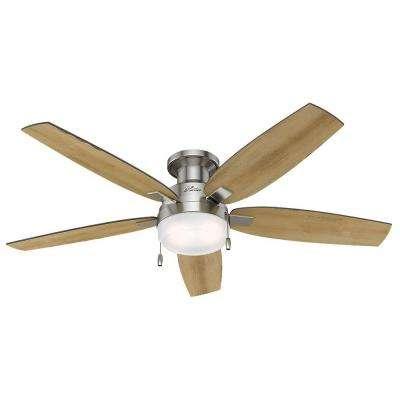Duncan 52 in. Indoor Brushed Nickel Ceiling Fan