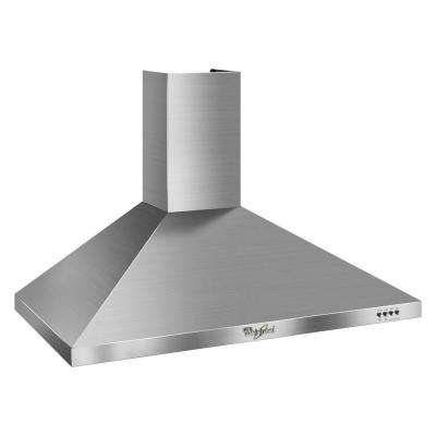 Gold 36 in. Convertible Range Hood in Stainless Steel