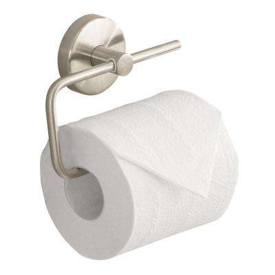 S/E Single-Post Toilet Paper Holder in Brushed Nickel