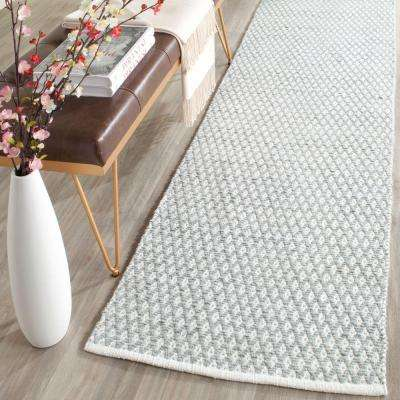 Boston Grey 2 ft. x 7 ft. Runner Rug
