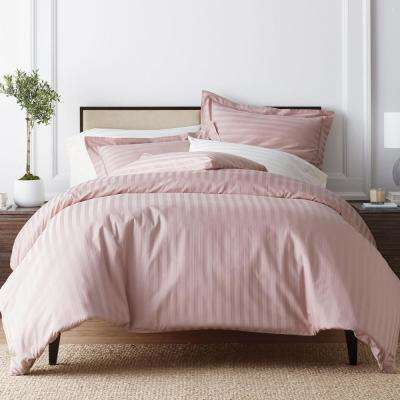 Classic Stripe 350-Thread Count Sateen Duvet Cover