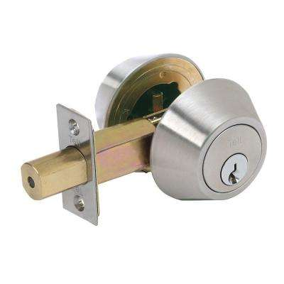 Double Cylinder Satin Stainless Steel Deadbolt