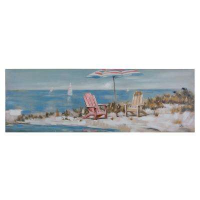 "20 in. x 59 in. ""Charlestown Beach"" Printed Canvas Wall Art"