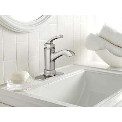 Hensley Single Hole Single-Handle Bathroom Faucet in Spot Resist Brushed Nickel