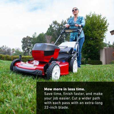 22 in. Recycler 60-Volt Lithium-Ion Cordless Battery Walk Behind Personal Pace Mower - 7.5 Ah Battery/Charger Included