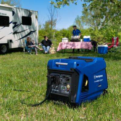 4,500-Watt Super Quiet Gas Powered Inverter Generator with LED Display, Push Button Start and Remote Start