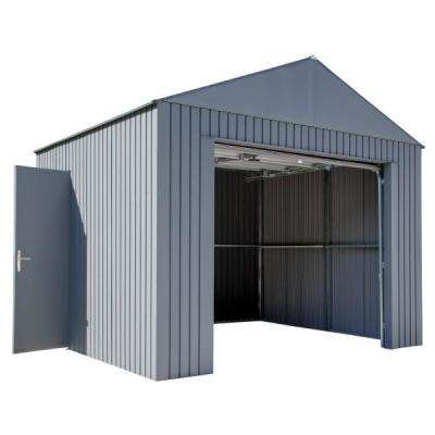 Everest 12 ft. H x 10 ft. W Charcoal Wind and Snow Rated Steel Garage