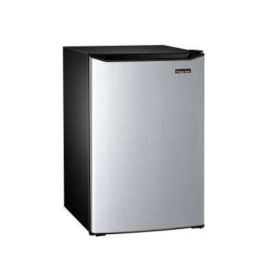 4.5 cu. ft. Mini Refrigerator with True Freezer in Stainless Look