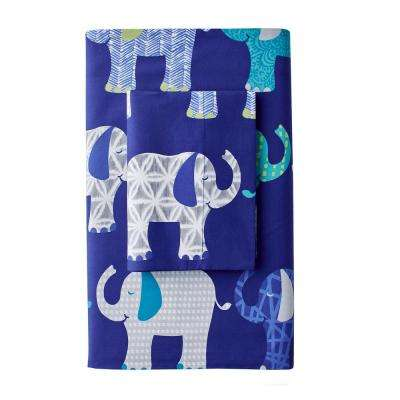 Elephant Parade 200-Thread Count Cotton Percale Flat Sheet
