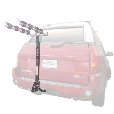 Sparehand 4-Bike Black Hitch Mount Vehicle Rack for All Frame Types