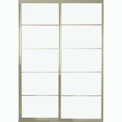 Silhouette 5 Lite Aluminum Brushed Nickel Interior Bypass Sliding Door  sc 1 st  Home Depot & Sliding Doors - Interior \u0026 Closet Doors - The Home Depot
