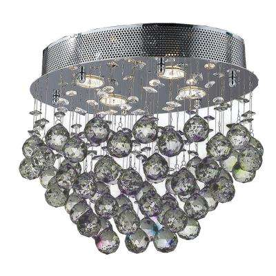 Icicle 4-Light Polished Chrome Ceiling Light with Clear Crystal
