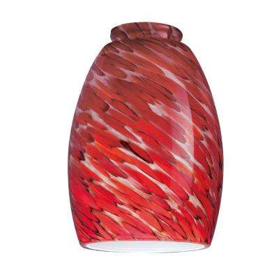 6-1/4 in. Handblown Chili Pepper Shade with 2-1/4 in. Fitter and 4-3/8 in. Width