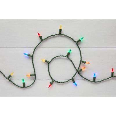 29.5 ft. 100-Light LED Mini Multi-Color String Light with Green Wire