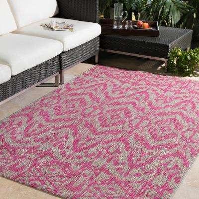 Cranleigh Bright Pink 8 ft. x 10 ft. Indoor/Outdoor Area Rug