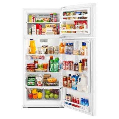 17.6 cu. ft. Top Freezer Refrigerator in White