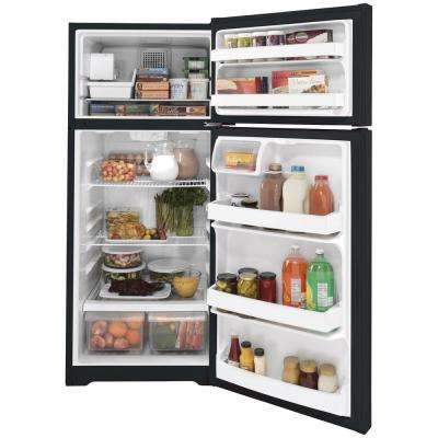 17.5 cu. ft. Top Freezer Refrigerator in Black, ENERGY STAR
