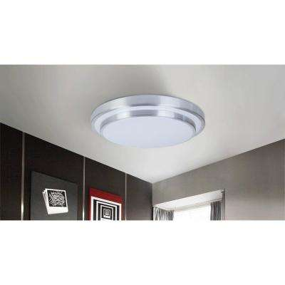 36-Watt Silver and White Integrated LED Ceiling Flush Mount