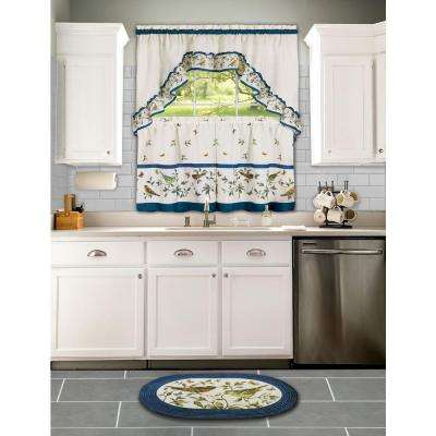Love Birds Blue 2 ft. x 3 ft. Braided Area Rug