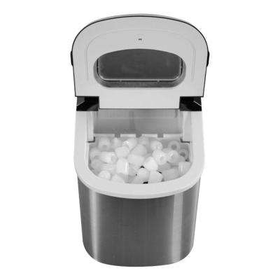 27 lb. Portable Countertop Ice Maker in Stainless Steel