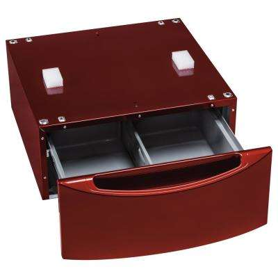 13 in. Ruby Red Laundry Pedestal with Storage Drawer