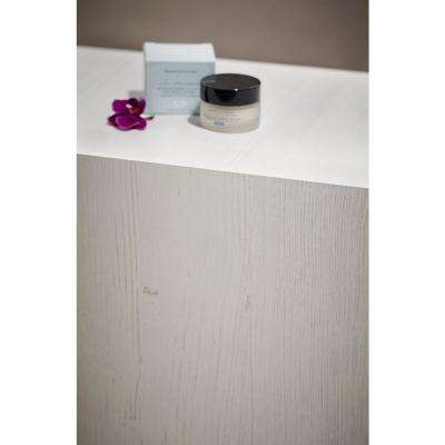 5 ft. x 12 ft. Laminate Sheet in White Painted Wood with Natural Grain Finish