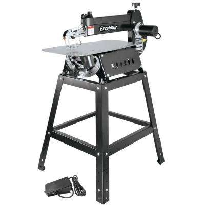 120-Volt 21 in. Tilting Head Scroll Saw with Stand and Foot Switch