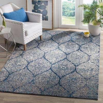 Madison Navy/Silver 9 ft. x 12 ft. Area Rug