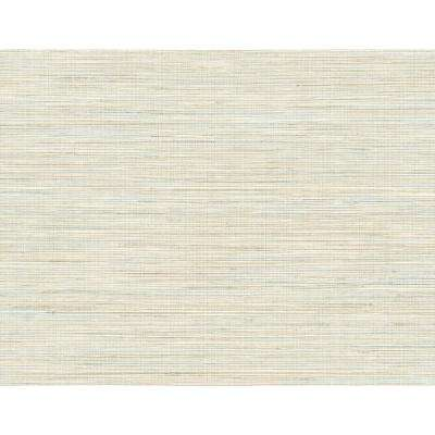 8 in. x 10 in. Baja Grass Blue Texture Wallpaper Sample