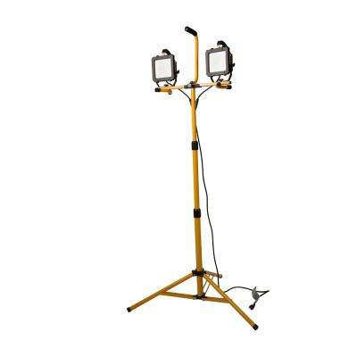 5000 Lumen 2 Head LED Stand Work Light