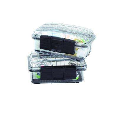 7 in. 1-Compartment Polycarbonate Storage Small Parts Organizer (2-Pack)