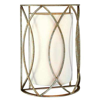 Sausalito 2-Light Silver Gold Wall Sconce