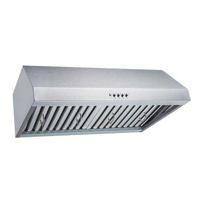 30 in. Convertible 480 CFM Under Cabinet Range Hood in Stainless Steel with Baffle, Charcoal Filters