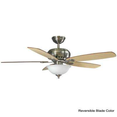 Southwind 52 in. LED Brushed Nickel Ceiling Fan with Light Kit Works with Google Assistant and Alexa