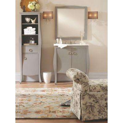 Savoy 31 in. W x 22 in. D Bath Vanity in Antique Grey with White Marble Vanity Top in White with White Sink