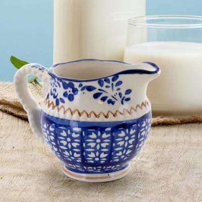 10 fl. oz. Blue Stoneware Creamer