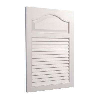 Louver 16.25 in. W x 24.5 in. H x 4.625 in. D Recessed Medicine Cabinet in White