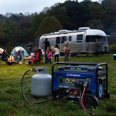 3,600-Watt Dual Fuel Gasoline or Propane RV-Ready Portable Generator with Remote Start