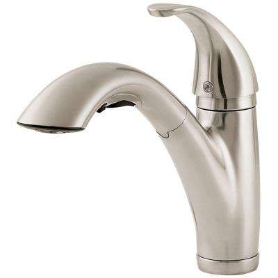 Parisa Single-Handle Pull-Out Sprayer Kitchen Faucet in Stainless Steel