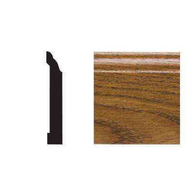 5523 29/64 in. x 3-1/2 in. x 8 ft. PVC Composite Base Highlands Oak Moulding