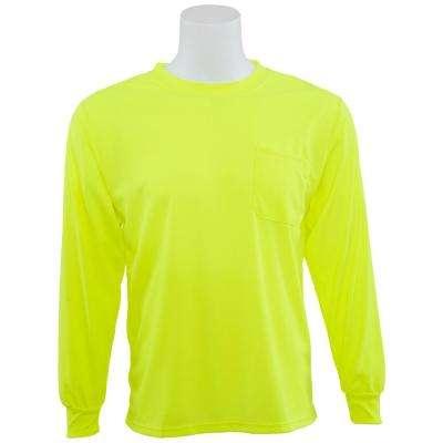 9007 Non-ANSI Poly Birdseye Mesh Hi Viz Lime T-Shirt