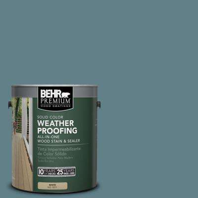 1 gal. #SC-113 Gettysburg Solid Color Weatherproofing All-In-One Wood Stain and Sealer