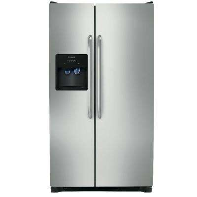 25.54 cu. ft. Side by Side Refrigerator in Stainless Steel