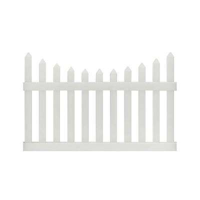 Pro-Series 4 ft. H x 6 ft. W Vinyl Westchester Scalloped Spaced Picket Fence Panel