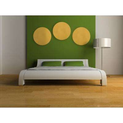 Paintable White Fabric Circle 24 in. Sound Absorbing Acoustic Insulation Wall Panels (2-Pack)