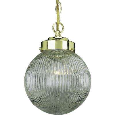 1-Light Polished Brass Interior Pendant
