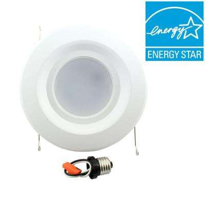 5 in. and 6 in. White Recessed LED Trim 90CRI, 4000K